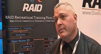 Scubaverse talks to James Rogers from RAID UK at DIVE 2014 (watch video)
