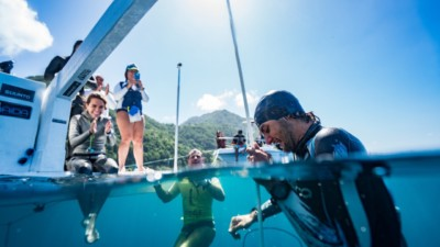 National Record #2 for Dean Chaouche 78m CNF dive set at Blue Element, Dominica