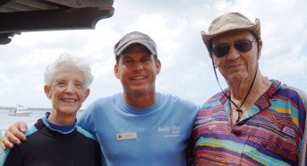 Oldest Scuba Diving Couple at Buddy Dive Resort Bonaire for Guinness Book of Records
