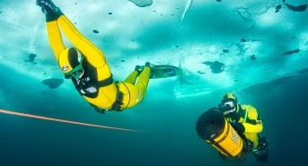 New World record in free diving under ice