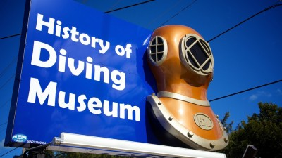 Spiegel Grove Exhibit on display at the History of Diving Museum
